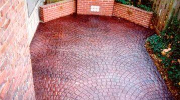 brick pattern patio