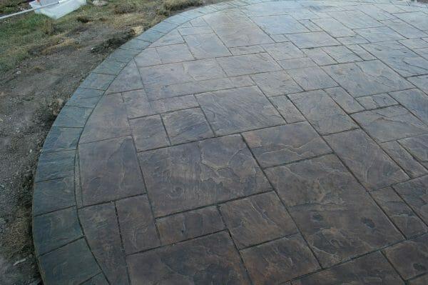 8 inch slate tile border roller example