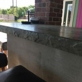 chiseled slate countertop insert