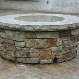 tightstack-stone-firepit-seatwall-form-liner-concrete-stamp