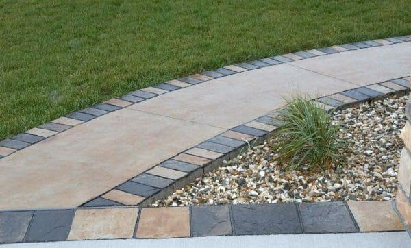 cut slate concrete roller example