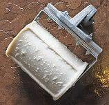 worn brick concrete border roller