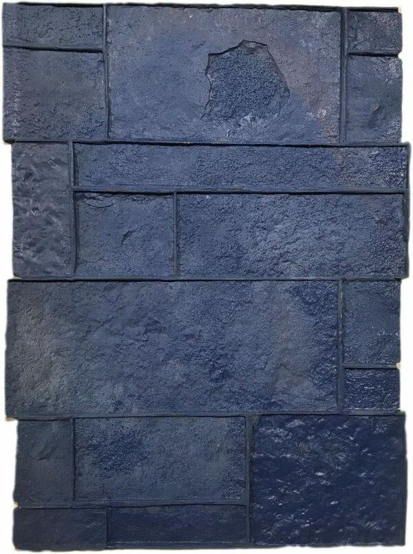 precast-column-form-liner-concrete-stamp-blue