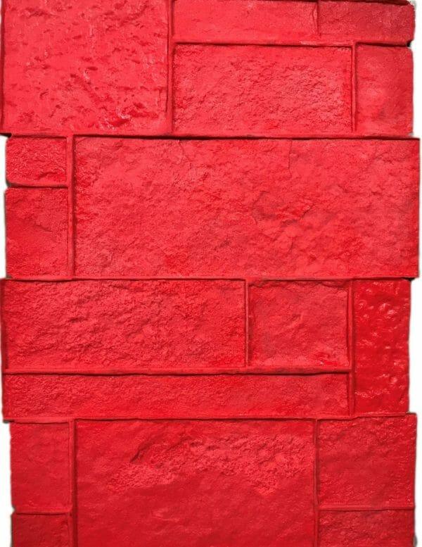 precast-column-form-liner-concrete-stamp-red
