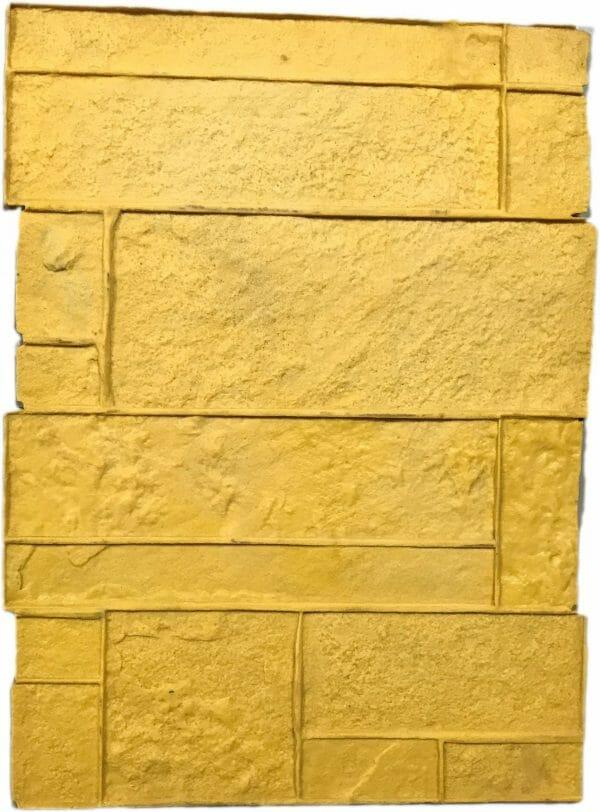 precast-column-form-liner-concrete-stamp-yellow