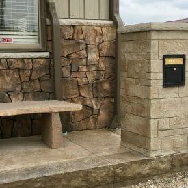 column-mailbox-precast-concrete-form-liner-stamp
