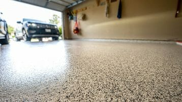 Helpful guide for how to apply flakes to epoxy floor