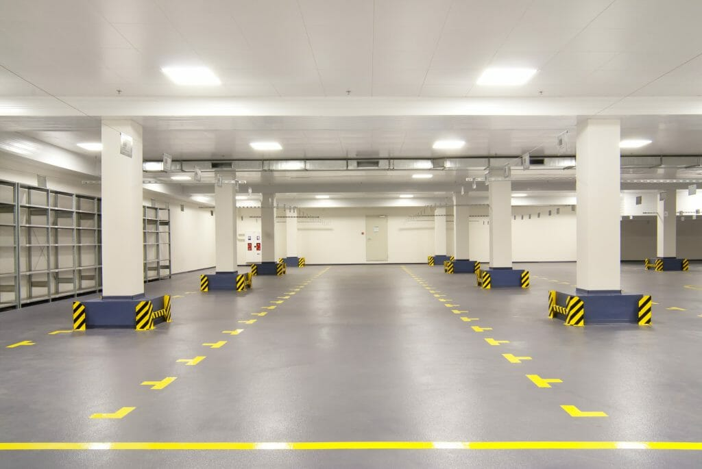 Concrete floor sealer for concrete warehouse floor