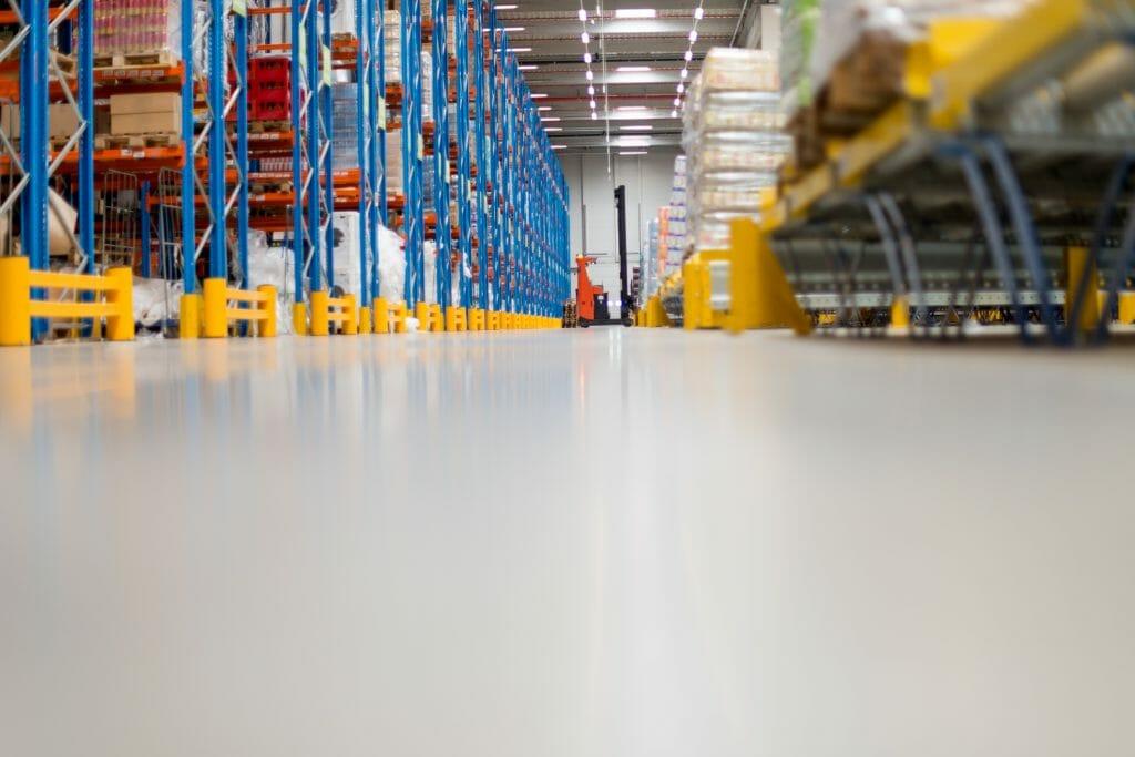 Warehouse concrete floor sealer